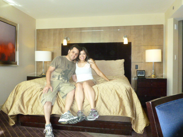Ready to go outside for our first day in Vegas (Aria Hotel)