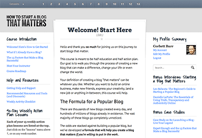 Build A Blog That Matters Members Area